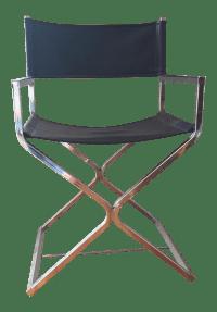 Mid-Century Chrome Directors Chair   Chairish