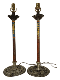 Custom Bicycle Table Lamps - A Pair | Chairish