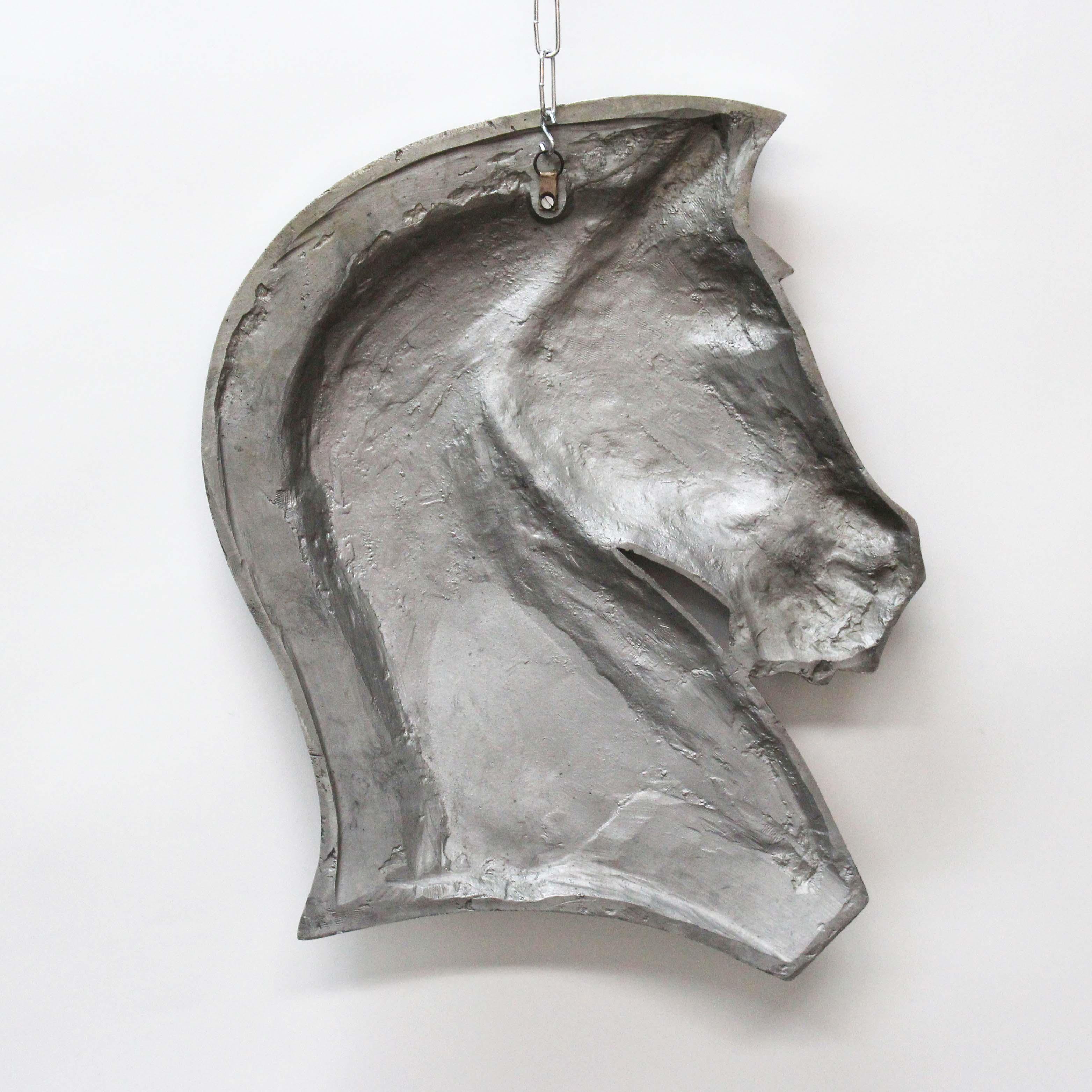 Art Deco Horse Head Metal Wall Hanging