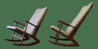 Mid Century Modern Teak Rocking Chair / Rocker | Chairish