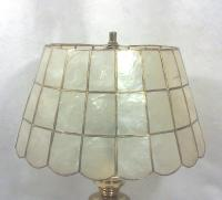 Brass Table Lamp with Capiz Shell Shade
