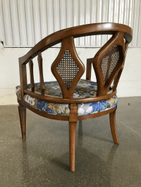Mid-Century Modern Hollywood Regency Cane Barrel Back ...