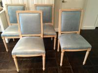 Louis Style Square Back Dining Chairs - Set of 4 | Chairish