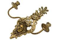 2-Arm Art Nouveau Candle Wall Sconce | Chairish