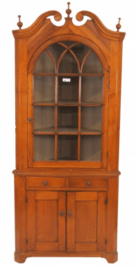 Primitive Pine Corner Cabinet | Chairish