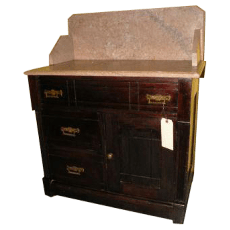 Antique Eastlake Style Marble Top Dry Sink Table Chairish