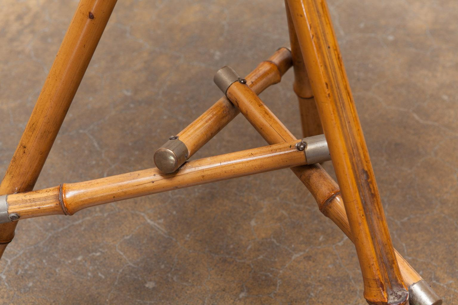 Bambus English English Bamboo Tripod Drink Table | Chairish