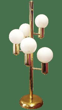 Mid-Century Three Way Brass Table Lamp | Chairish