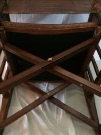 Mid-Century Modern Wood & Leather Sling Chair | Chairish