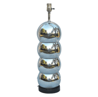 Mid-Century Mod Chrome Orb Table Lamp | Chairish