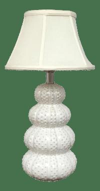 White Sea Urchin Table Lamp   Chairish