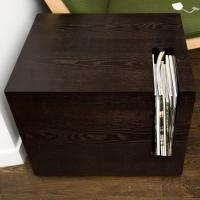 Modern Magazine Holder Table | Chairish