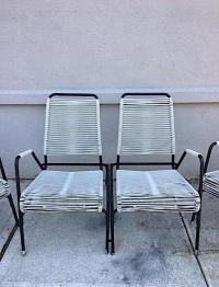 Mid-Century Patio Chairs & Bench - Set of 3 | Chairish