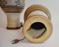 Vintage Organic Studio Pottery Table Lamps - A Pair | Chairish
