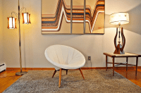 Mid-Century Low Profile Saucer Scoop Chair | Chairish
