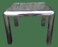 Mid-Century Chrome & Glass Side Table | Chairish