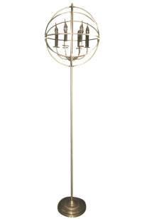 Spherical Restoration Hardware Floor Lamp | Chairish