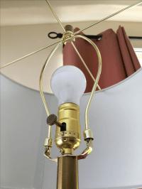 Modern Brass & Marble Floor Lamp | Chairish