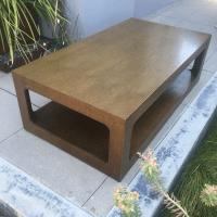 Modern Brown Coffee Table | Chairish