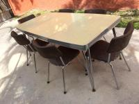 Mid-Century Modern Howell Chrome Dining Set With Table and ...