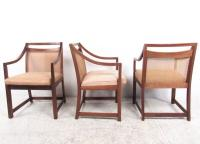 Mid-Century Modern Cane Back Dining Chairs - Set of 8 ...