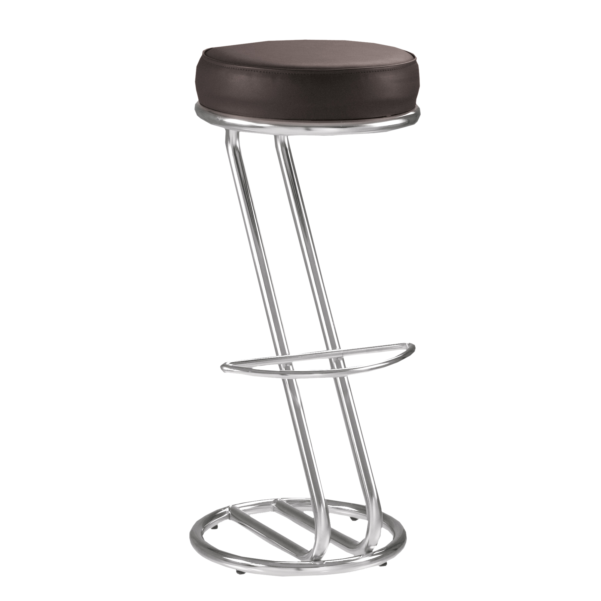 Siege De Bar Lot De 2 Tabourets De Bar Chaise Haute De Bar Zeta Noir