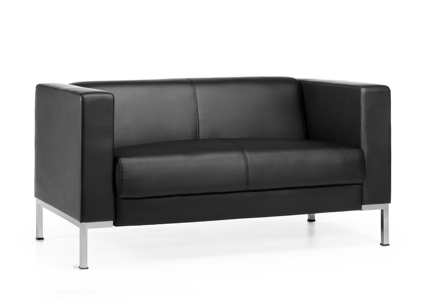 Canapé Confortable Canapé 2 Places Capio Design Elégant Grand Confort En Cuir Noir