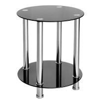 Furniture & Art by Chaisse Limited | Round Black Glass ...