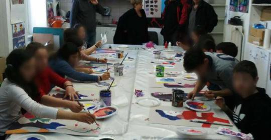 Στιγμιότυπα απο επισκέψεις σχολείων στο Εργαστήρι για δημιουργική απασχόληση