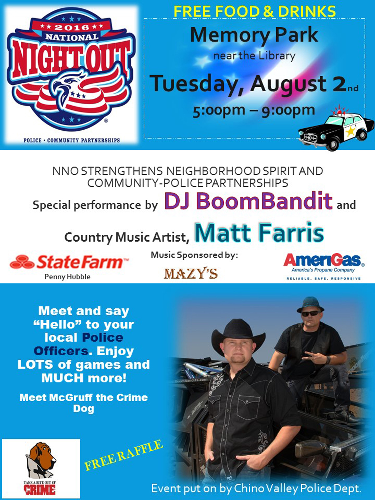 date for 2014 national night out event