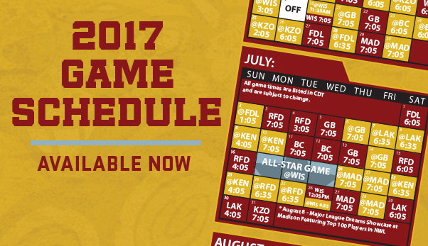 Wisconsin Rapids Rafters Release 2017 Schedule - Heart of Wisconsin - how to make a league schedule
