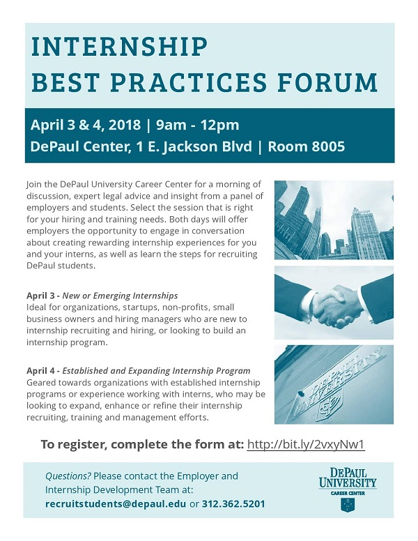 DePaul University\u0027s Internship Best Practices Forum - Lincoln Park - looking for an internship