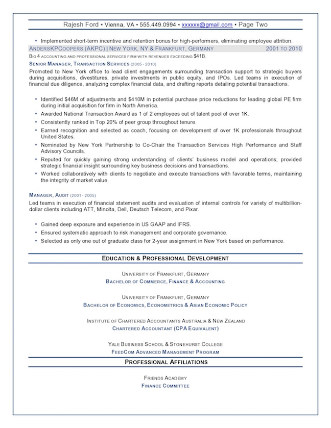 resume summary for operations executive