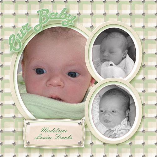 Scrapbook Templates for Newborns