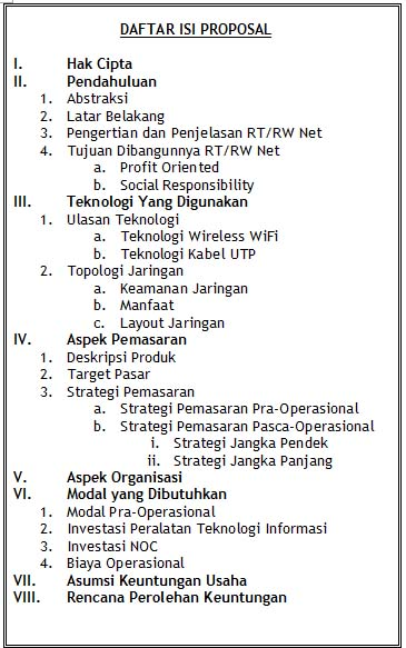 Contoh Proposal Pemasaran Contoh Proposal Business Plan Slideshare Rtrw Net Proposal For Investor Sharing Vission To Be A Better