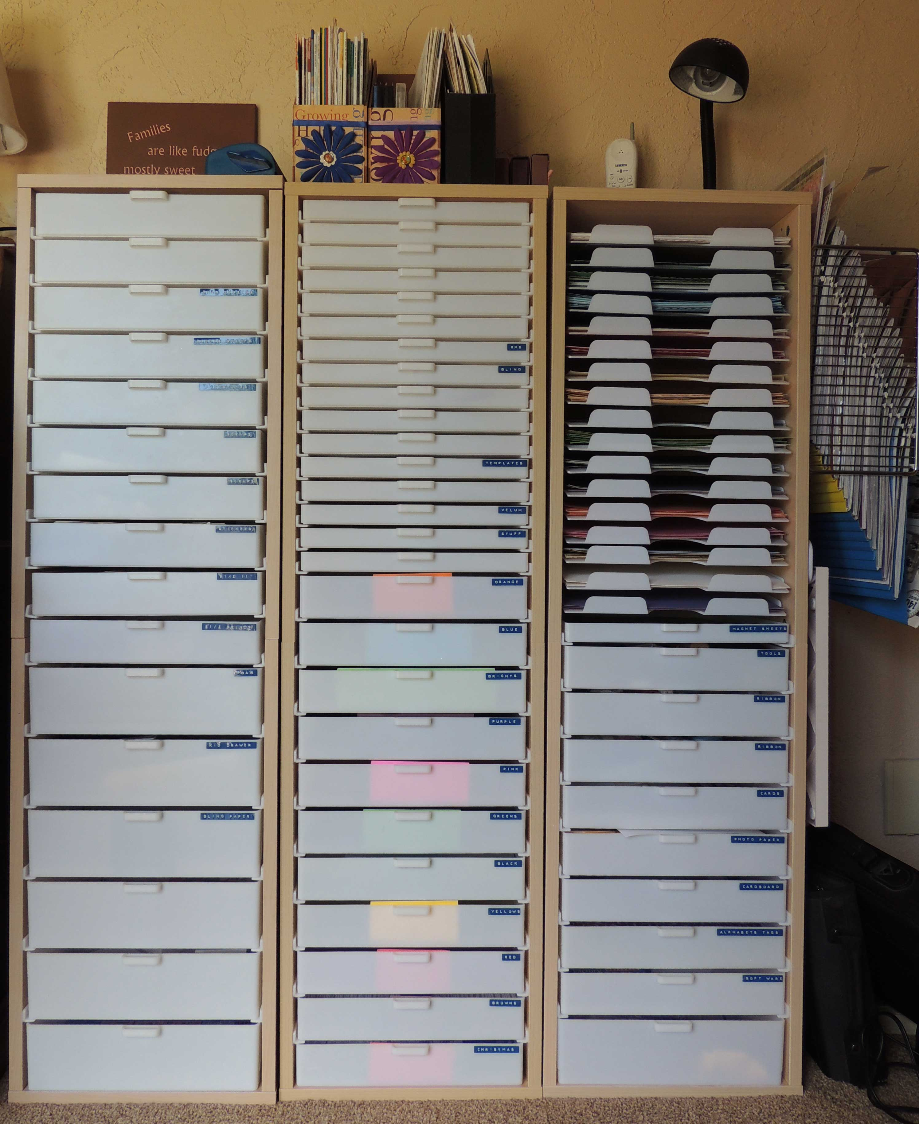 Scrapbook Paper Storage Chandlercreations