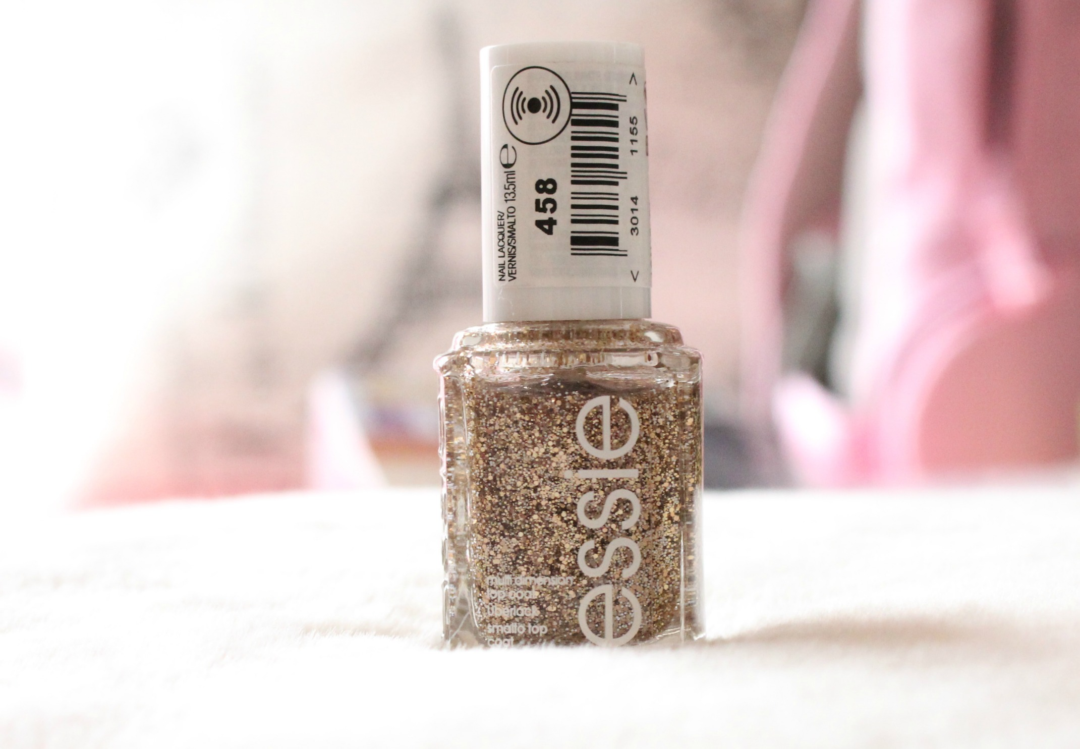 Essie Nail Polish Pink Glitter To Bend Light