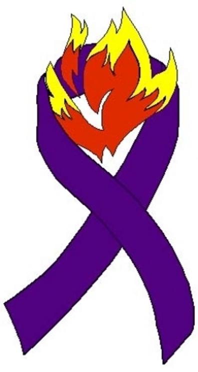 firefighter purple ribbon Change by Doing