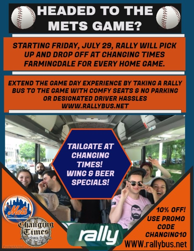 Rally Bus Leaves From Changing Times Farmingdale