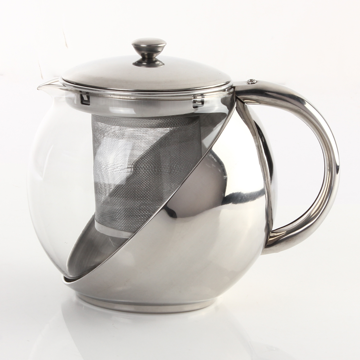 Tea Kettle With Strainer 900ml Stainless Steel Glass Teapot With Tea Leaf Strainer
