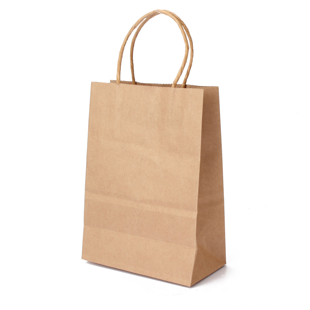 Paper Gift Bags Kraft Brown Twisted Handle Shopping Gift Merchandise Paper