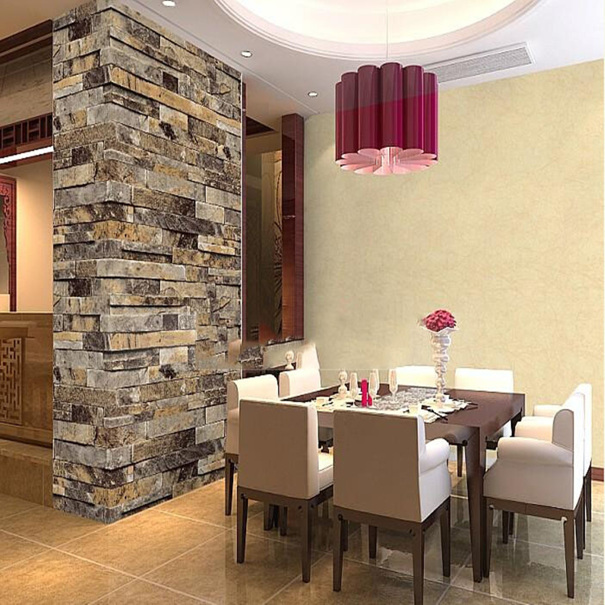 Vinyl Steinoptik Wand Details About Beige Vintage 3d Effect Natural Embossed Stack Stone Brick Tile Vinyl Wallpaper