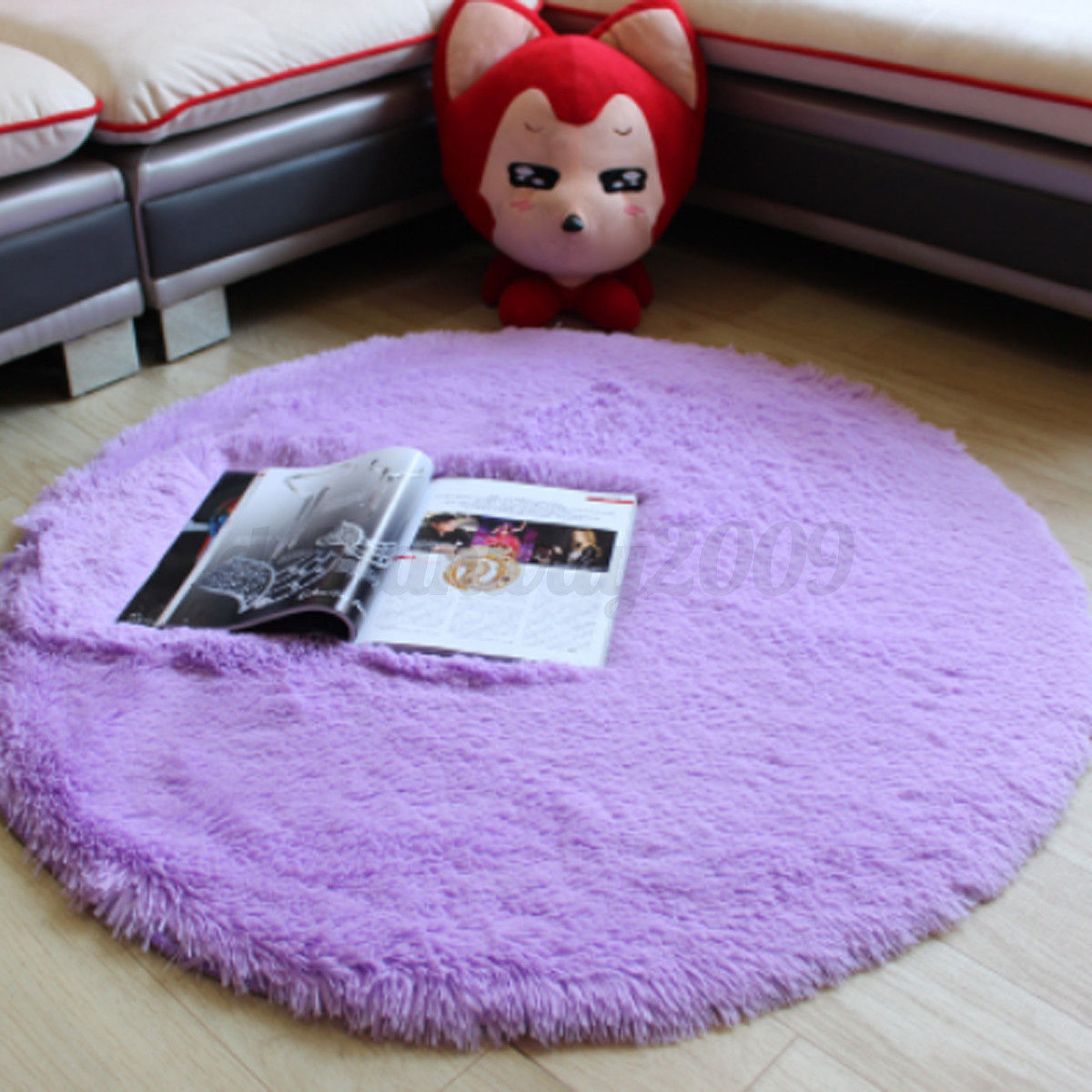 Soft Chairs For Bedrooms Round Fluffy Soft Plush Shaggy Anti Slip Bedroom Chair