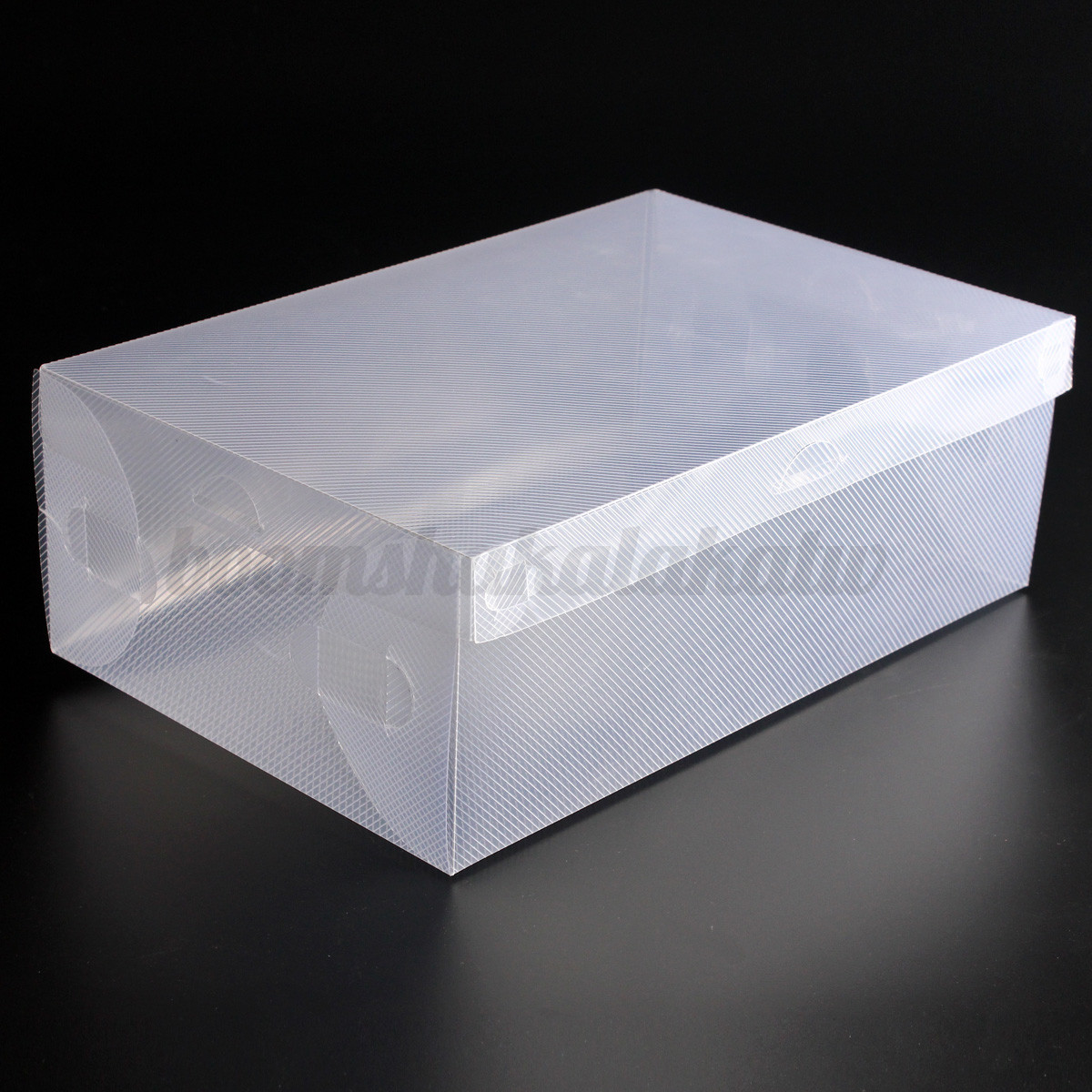 Shoe Box Australia 20x Thick Foldable Plastic Shoebox Clamshell Storage