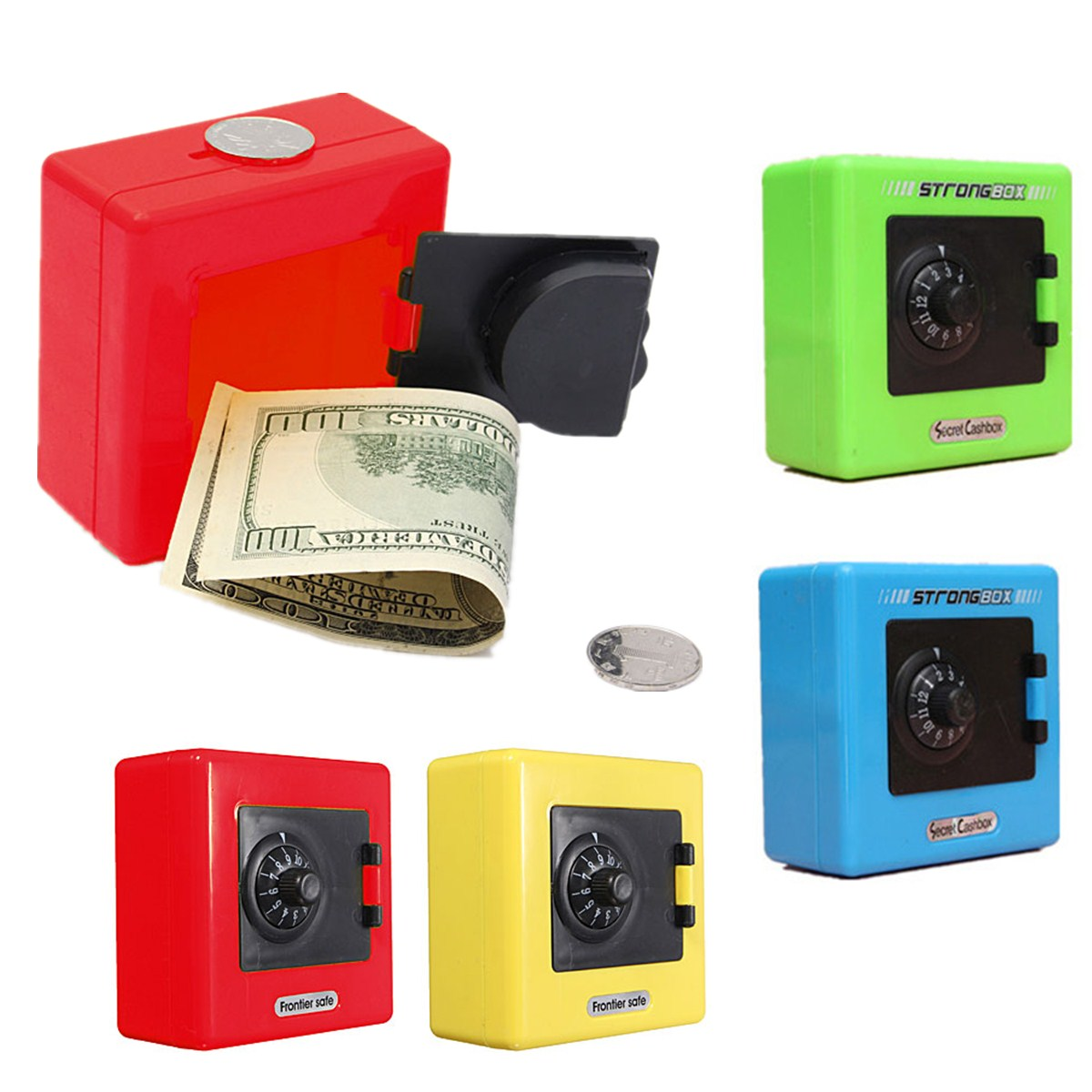 Money Bank For Kids Piggy Bank Combination Lock Coin Cash Saving Box Safe