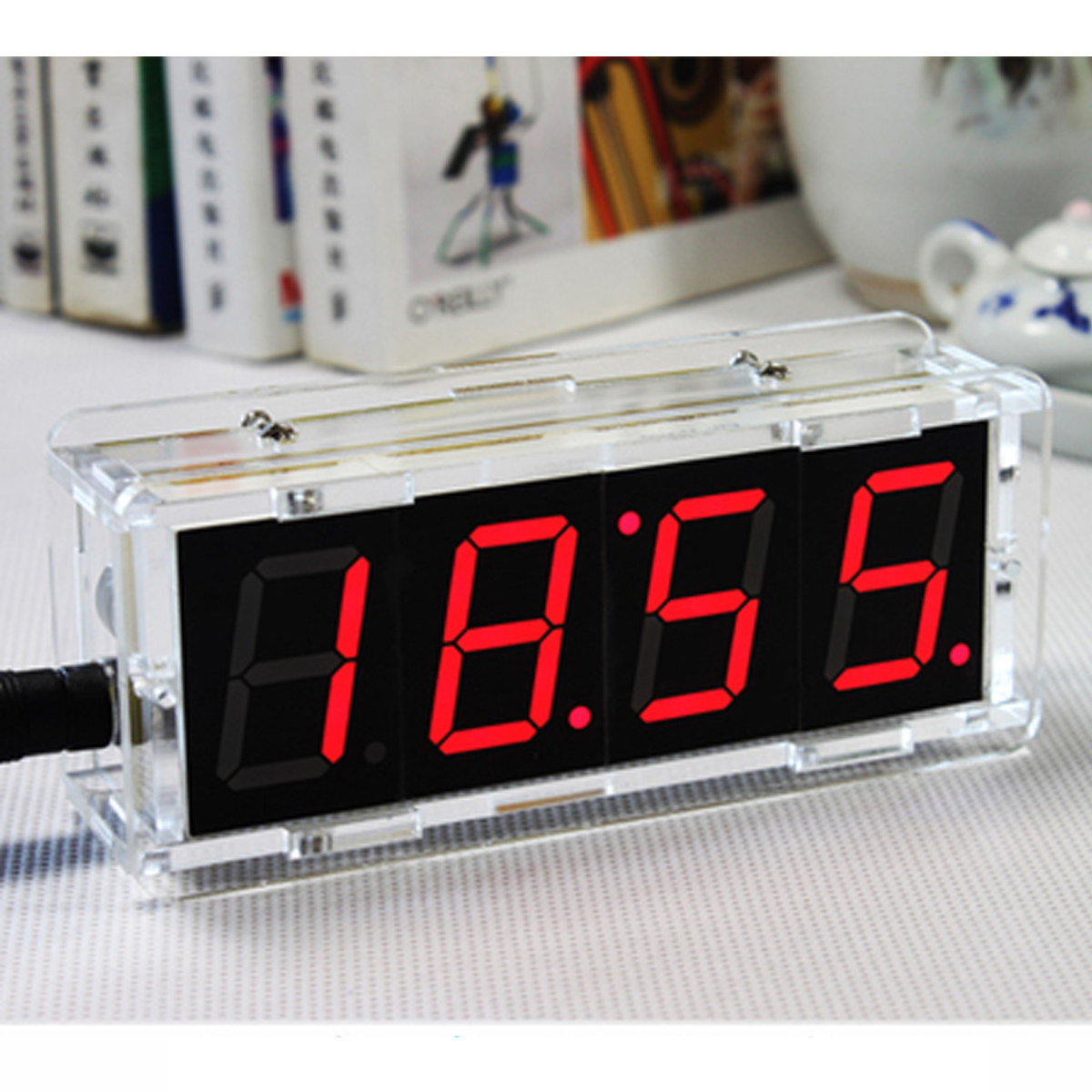 Small Led Alarm Clock Diy Digital Led Electronic Microcontroller Clock Kit Large