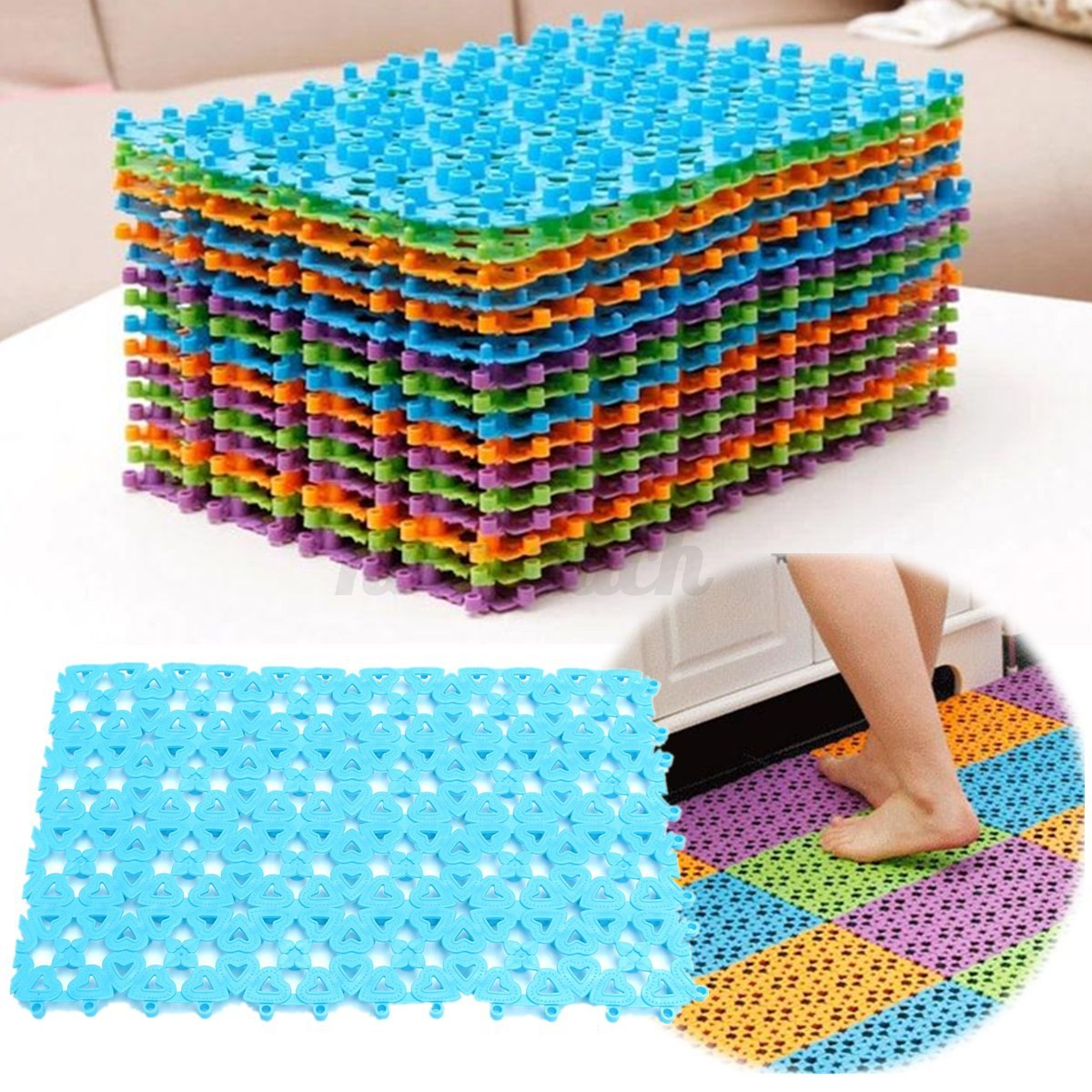 Non Slip Bathroom Mats Bath Mat Bathtub Tub Shower Large Non Anti Slip Skid