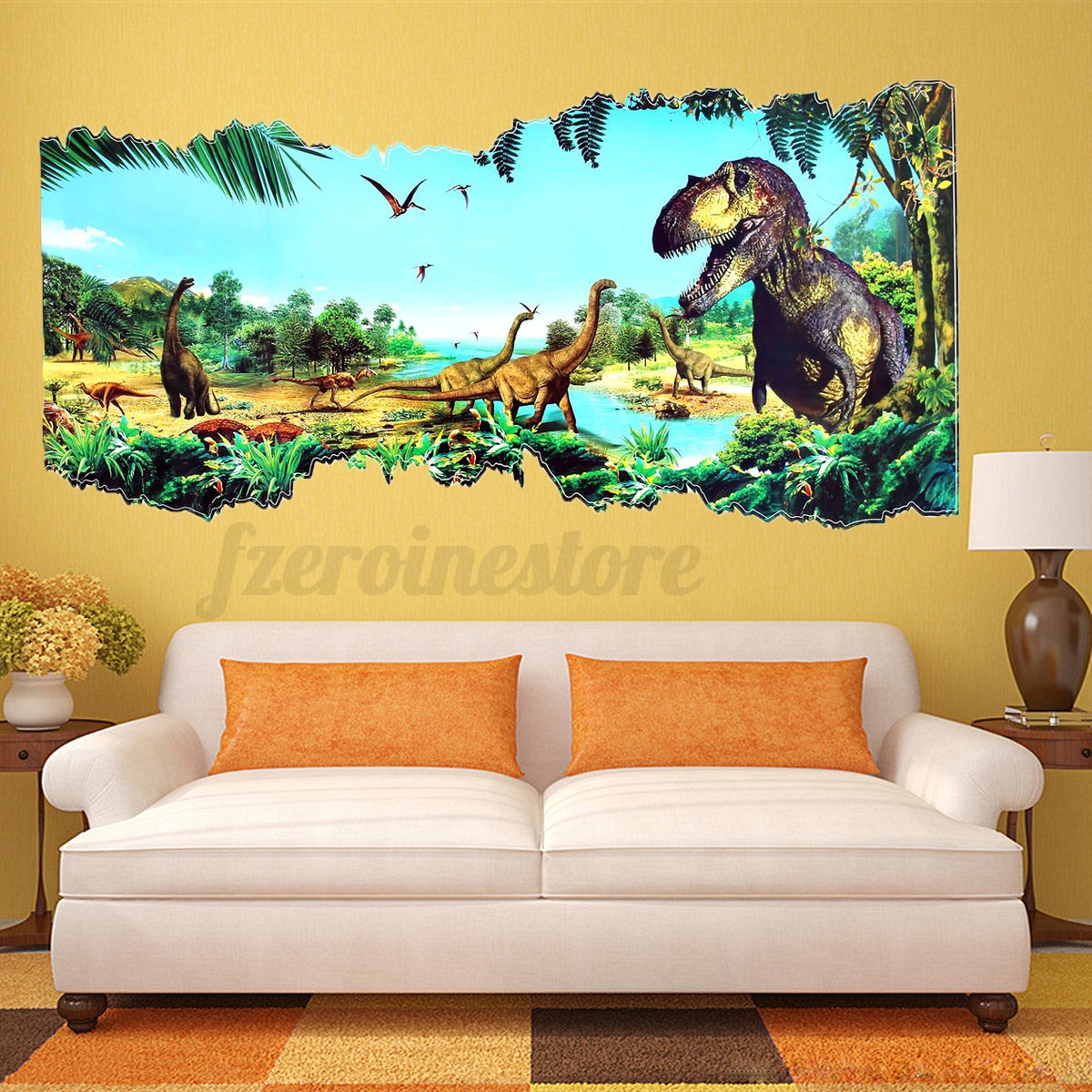 3d Home Decor 3d Jurassic World Park Dinosaur Wall Sticker Kids Room