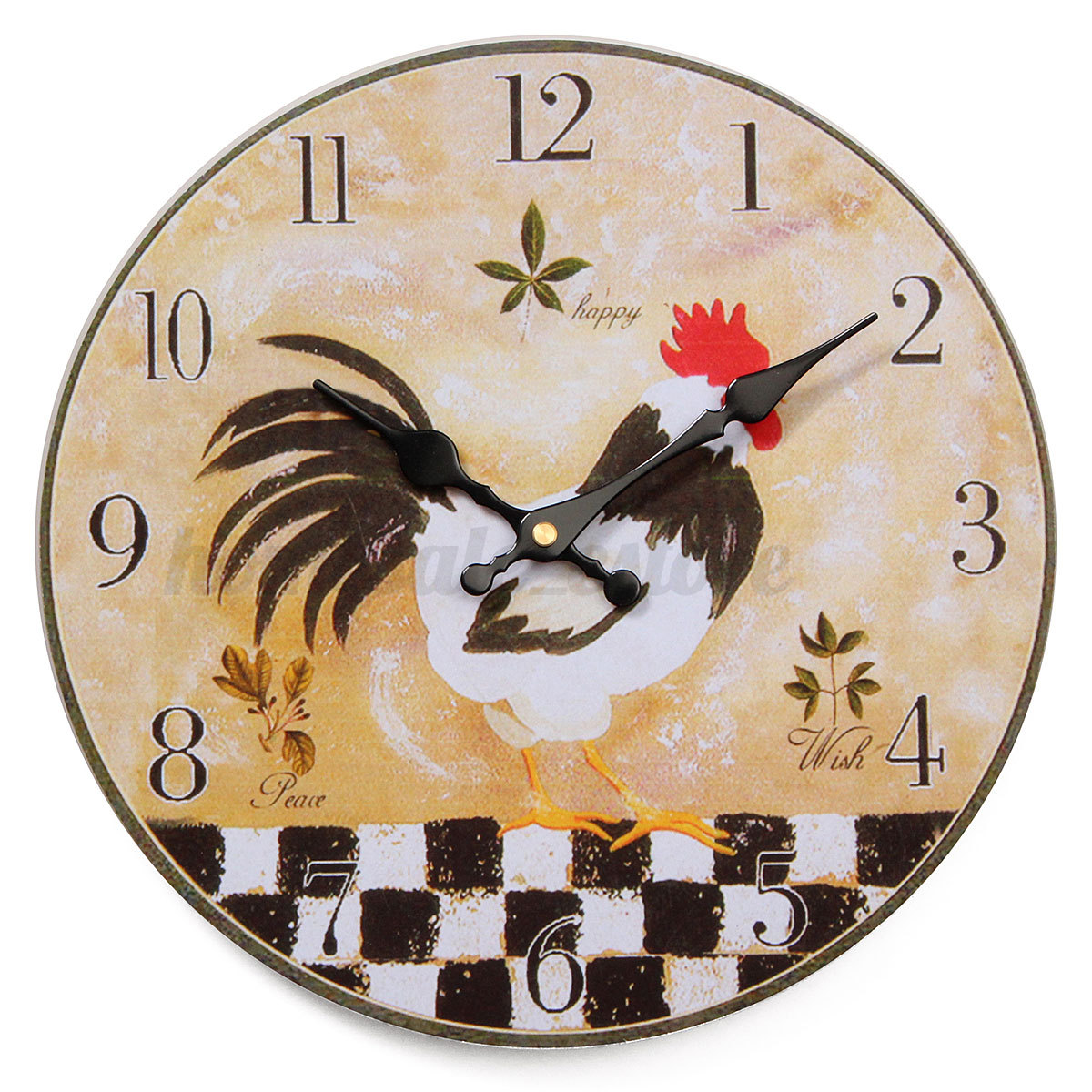 Retro Kitchen Wall Clocks Large Vintage Rustic Wooden Wall Clock Kitchen Antique