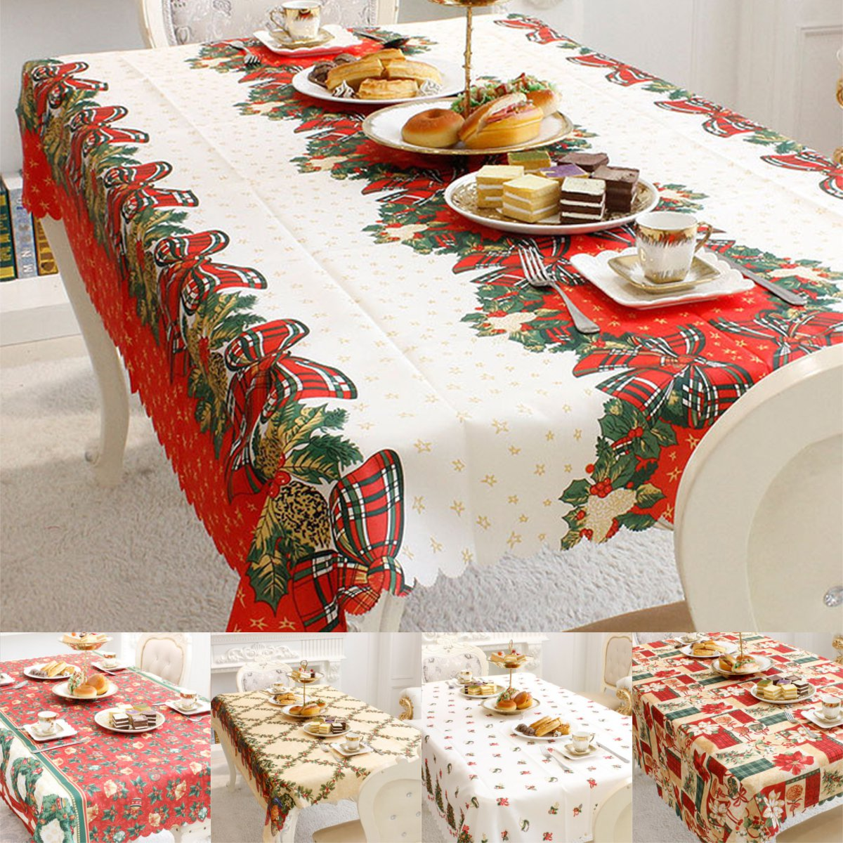 Christmas Tablecloths Australia Details About Christmas Tablecloth Rectangle Table Cloth New Year Table Cover Xmas Party Decor